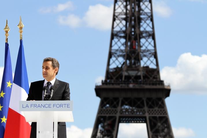 Nicolas Sarkozy le 1er Mai au Trocadéro - UMP Photos