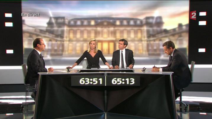 François Hollande - Nicolas Sarkozy - Le Debat à la 65ème minute - Capture Ze Rédac