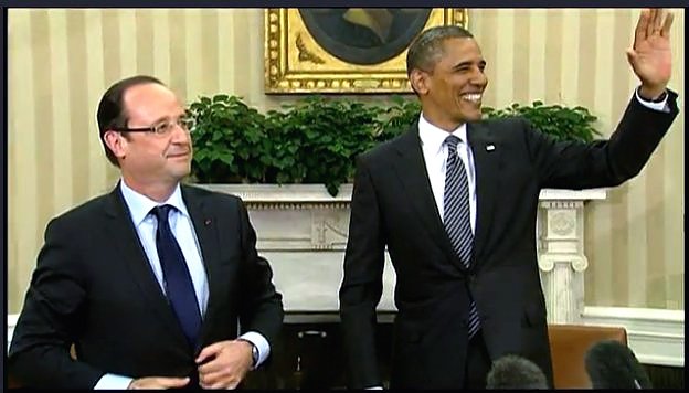Première rencontre Hollande Obama à la Maison Blanche