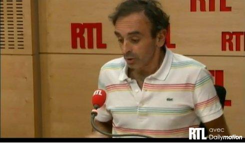Zemmour se défend sur RTL après sa chronique jugée raciste - Capture Ze Rédac