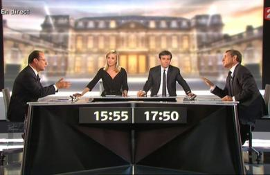 Débat Hollande Sarkozy - Capture 20 Minutes