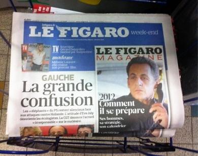 Le Figaro, la Une en Campagne - cc Bembelly