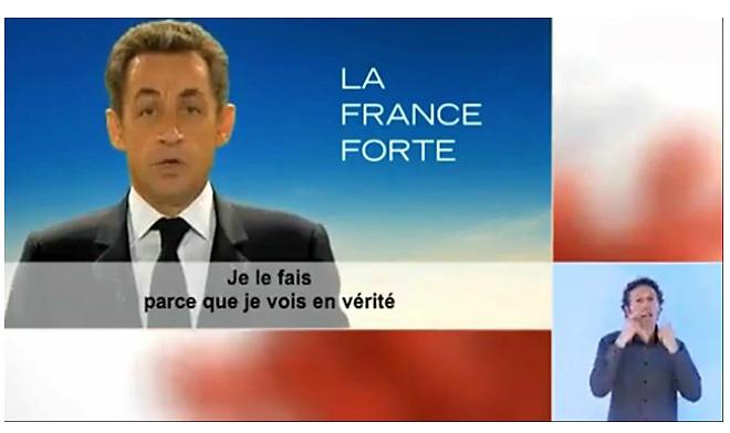 Sarkozy dans son clip campagne du second tour, 2012
