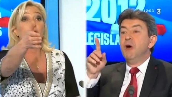 Marine Le Pen - Mélenchon en débat sur France 3 évoquent le tract