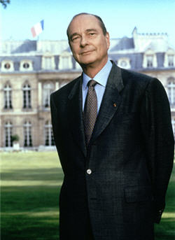 Jacques Chirac Photographie Officielle - © La Documentation française. Photo Bettina Rheims.