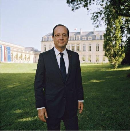 François Hollande Président la photographie officielle